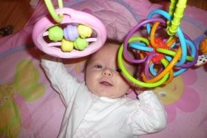 Entertaining herself!